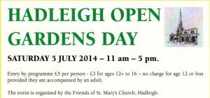 Hadleigh Open Gardens 2014