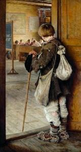 Education Tourism 1897_Bogdanov-Belsky_At_School_Doors_var